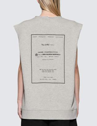 MM6 MAISON MARGIELA Under Construction Sleeveless Sweatshirt