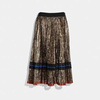 Coach Daisy Print Pleated Skirt