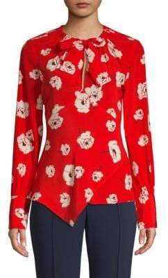 Derek Lam 10 Crosby Floral Silk Top