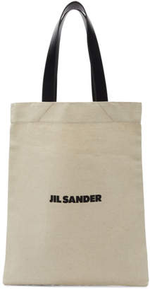 Jil Sander Off-White Canvas Logo Tote