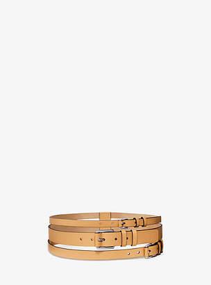 Michael Kors Layered Leather Belt