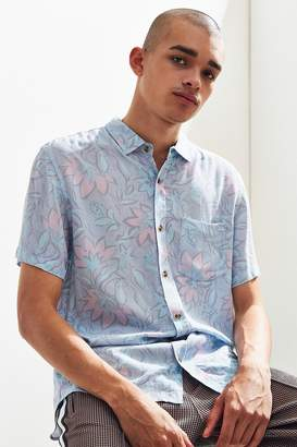 Insight Strange Days Floral Short Sleeve Button-Down Shirt