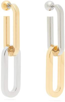 Burberry Chain metal drop earrings