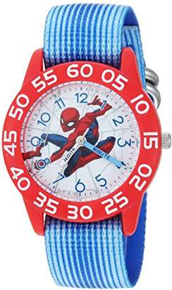 Marvel Boy's Spider-Man' Quartz Plastic and Nylon Casual Watch