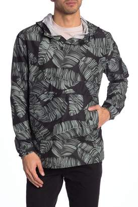 Herschel Voyage Palm Print Packable Hooded Anorak Jacket