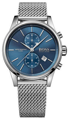 BOSS Chronograph Jet Stainless Steel Mesh Bracelet Watch