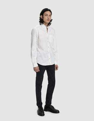 Acne Studios Isherwood Poplin Shirt in Beige/White