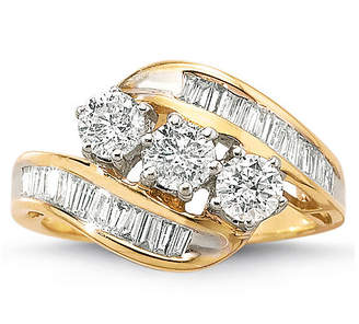 MODERN BRIDE Love Lives Forever 1 CT. T.W. Diamond 10K Gold 3-Stone Ring
