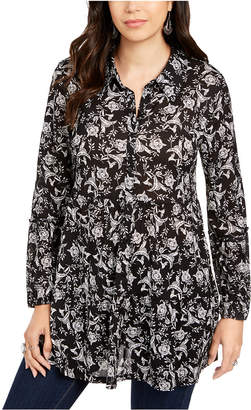 Style&Co. Style & Co Printed Tiered Blouse