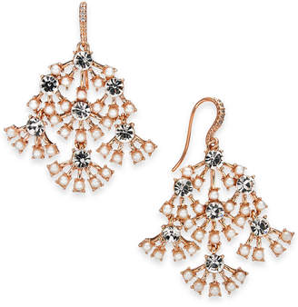 a50d6d472 INC International Concepts I.n.c. Rose-Gold Tone Pearl & Crystal Chandelier  Earrings