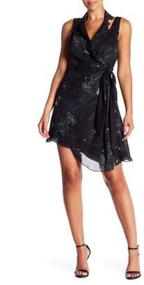 Haute Hippie Notch Collar Silk Wrap Dress