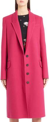 Alexander McQueen Long Wool & Cashmere Coat