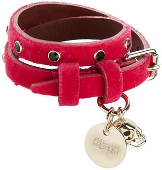 Alexander McQueen Velvet Stud Wrap Bracelet