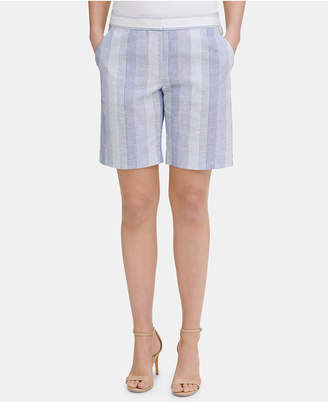 Tommy Hilfiger Striped Slim-Leg Shorts