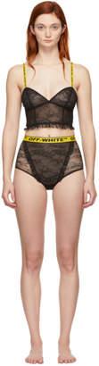 Off-White Black Two-Piece Bodysuit