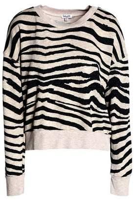 Splendid Zebra-Print Cotton-Blend Terry Sweatshirt