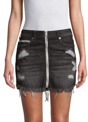 True Religion Distressed Denim Mini Skirt