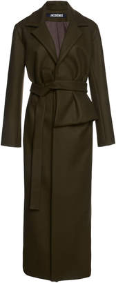 Jacquemus Aissa Pleated Wool-Blend Coat