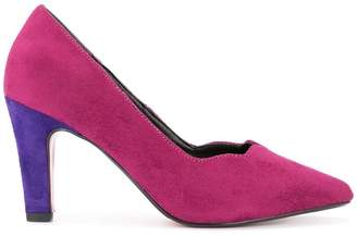 Loveless contrast heel pumps