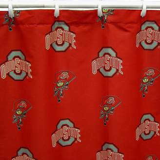 NCAA Kohl's College Covers Ohio State Buckeyes Printed Shower Curtain Cover