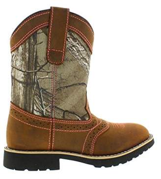 Itasca Girls Youth Pull-on Leather/Nylon Buckaroo Western Boot