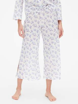 Gap Dreamwell Floral Stripe Wide-Leg Pants