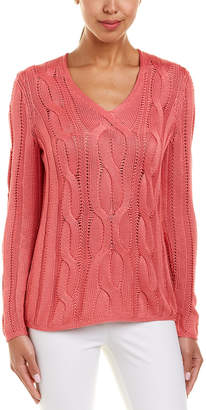 Lafayette 148 New York Cable-Knit Silk-Blend Sweater