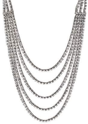 """Aqua Five Row Crystal Necklace, 12""""-16"""" - 100% Exclusive"""