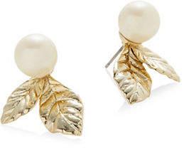 Kate Spade Crystal Leaf Mini Stud Earrings