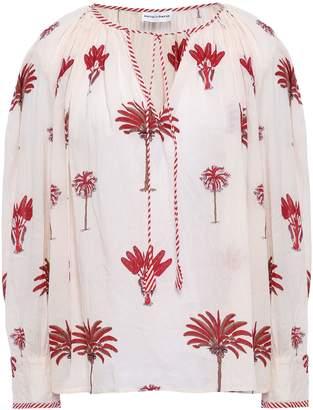 Antik Batik Palmio Gathered Printed Cotton Blouse