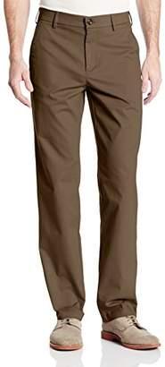 Haggar Men's Performance Cotton Slack Straight-Fit Plain-Front Pant