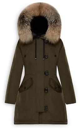 Moncler Aredhel Fox Fur Trim Down Parka