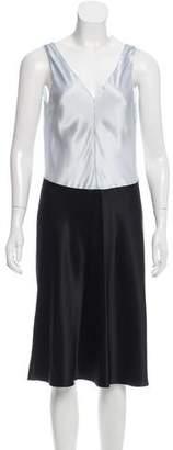 Narciso Rodriguez Colorblock Midi Dress