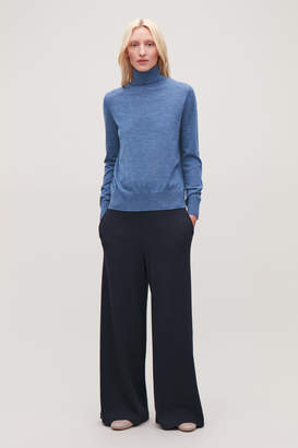 Cos WIDE RIBBED-JERSEY TROUSERS