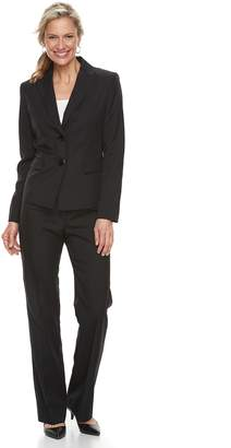 Le Suit Women's Tonal Stripe Jacket & Pant Suit