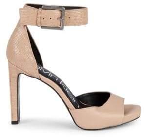Calvin Klein Marinda Ankle-Strap Leather Dress Sandals