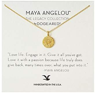 Dogeared Maya Angelou Love Life Engage In It Cutout Textured Heart Charm Pendant Necklace
