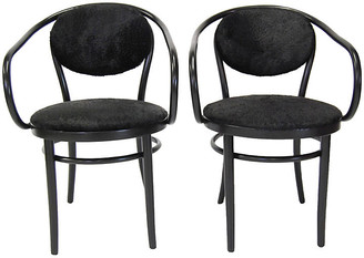 One Kings Lane Vintage Thonet Chairs with Cowhide - Set of 2 - West Fifth