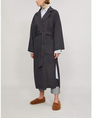Loewe Self-tie wool and cashmere-blend wrap coat