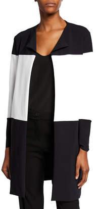 Chiara Boni Sibylle Colorblock Open-Front Jacket