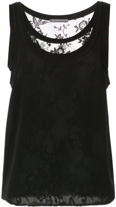 Alexander McQueen layered lace vest top