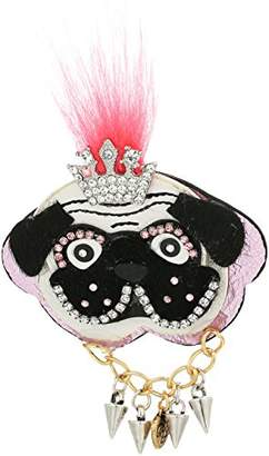 Betsey Johnson White and Black Dog Brooch and Pin
