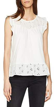 Tom Tailor Women's Fabric Mix Tee T-Shirt,S
