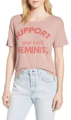 Junk Food Clothing Support Your Local Feminist Tee