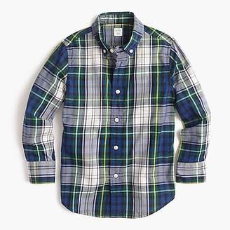 J.Crew Kids' Secret Wash shirt in tartan
