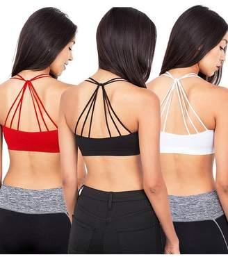 Anémone Anem Women's Soft Breathable Sports Bra (, 1 Black & 1 White)
