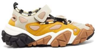 Acne Studios Bryz Velcro Strap Suede Trainers - Womens - Yellow Multi