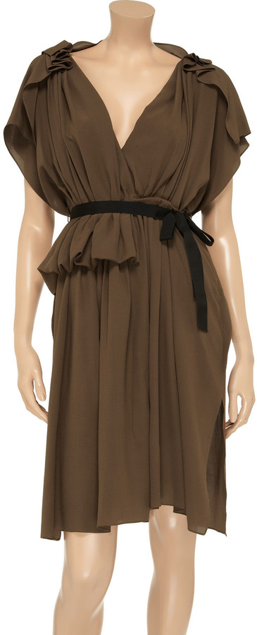 Vionnet Draped silk crepe de chine dress