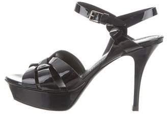 Saint Laurent Tribute Patent Sandals