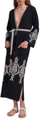 Aggel Long Pattern Cardigan
